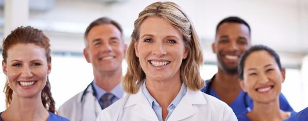 Blog header with nurses smiling.